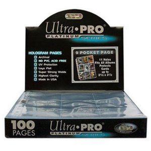 Hojas 9 Bolsillos Platinum Ultra Pro - Paquete De 100