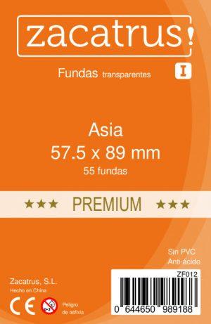 Fundas Zacatrus Asia Premium (57.5 mm x 89 mm) (55 uds)