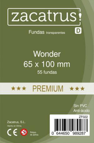Fundas Zacatrus Wonder premium (65 mm X 100 mm) (55uds)