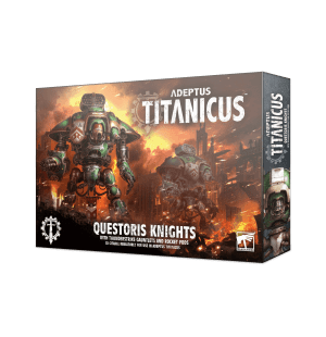 Questoris Knights con guanteletes atronadores y baterías de cohetes