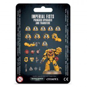 Mejoras y calcomanías de Imperial Fists Primaris