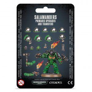 Mejoras y calcomanías de Salamanders Primaris