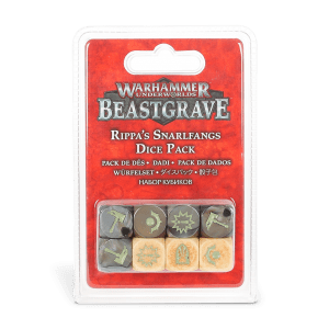 Warhammer Underworlds: Beastgrave. Juego de dados Colmibramantes de Rippa