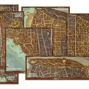 Set de mapas de los distritos de Waterdeep