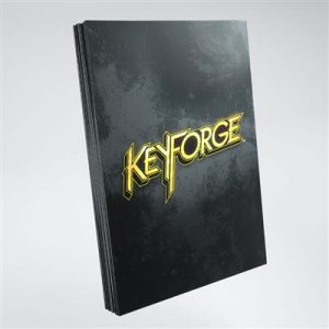 Keyforge Black Logo Sleeves ML