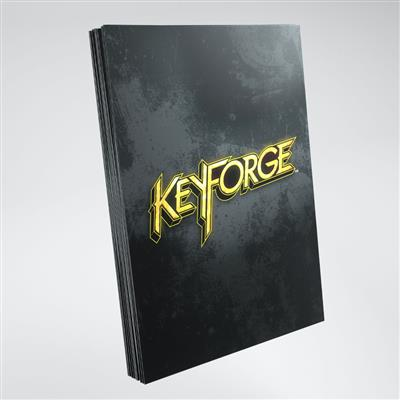 Keyforge Black Logo Sleeves ML