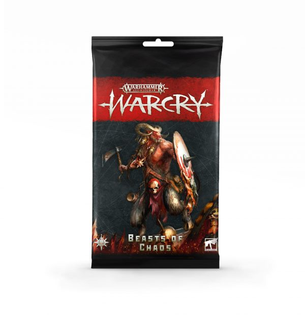 Warcry: pack de cartas de Beasts of Chaos