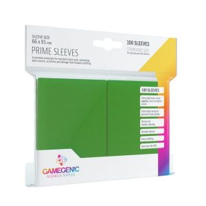 Pack Prime Sleeves Green (100)