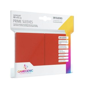 Pack Prime Sleeves Red (100)