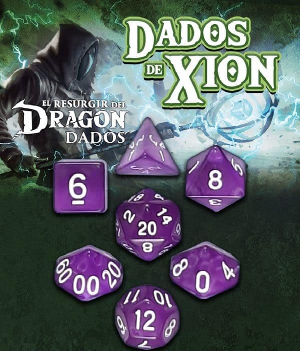 Dados de Xion: Púrpura Extraña Oscuridad