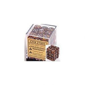 Dados De 6 Caras Lustrous Chessex Oro / Plata chx 27893