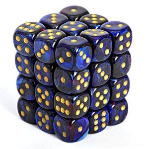 Dados De 6 Caras Scarab Royal Blue/gold chx 27809