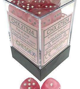 Dados De 6 Caras Ghostly Glow Pink / silver chx 27924