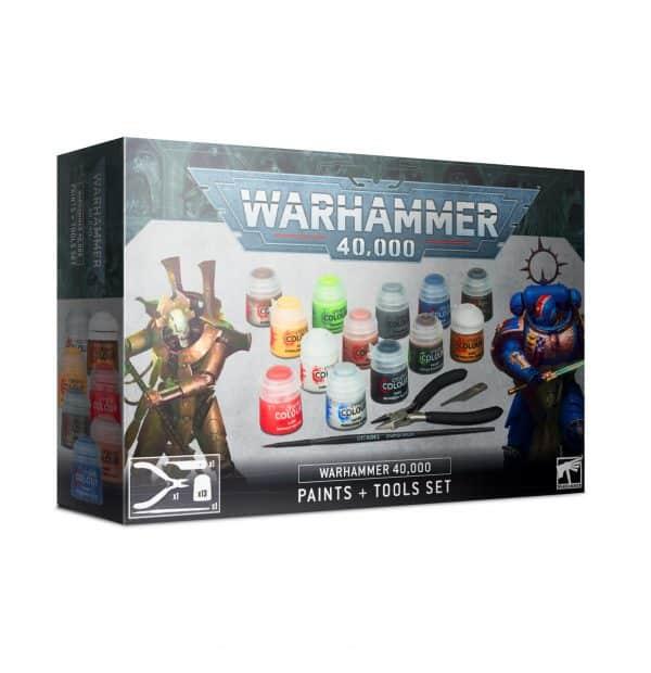 Juego de pinturas y herramientas Warhammer 40.000