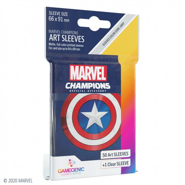 Marvel Champions Sleeves Captain America