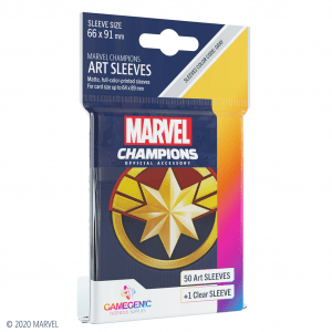 Marvel Champions Sleeves Captain Marvel