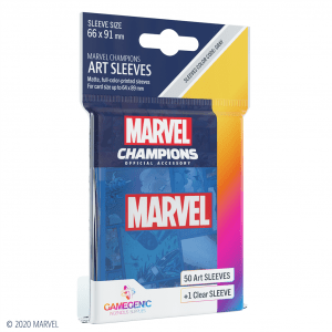 Marvel Champions Sleeves Marvel Blue