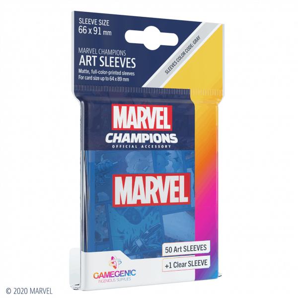 Marvel Champions Sleeves Marvel Blue
