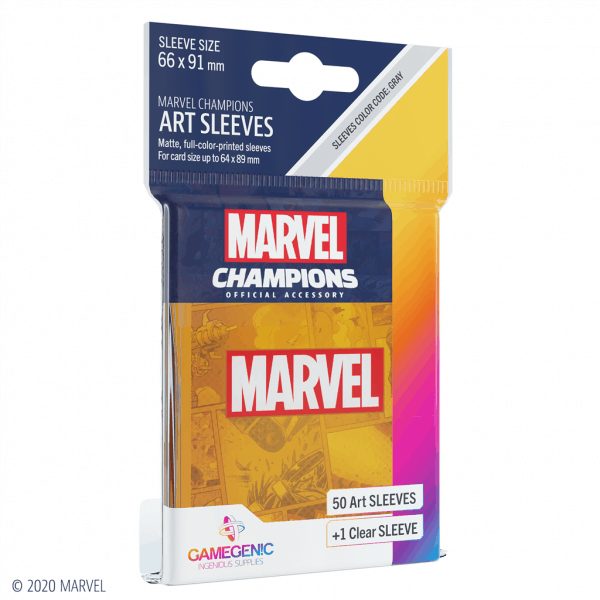Marvel Champions Sleeves Marvel Orange
