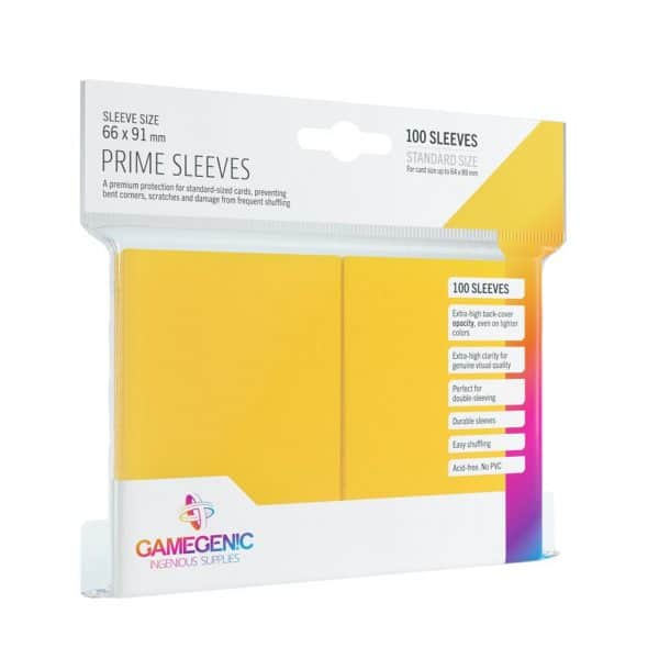 Pack Prime Sleeves Yellow (100)