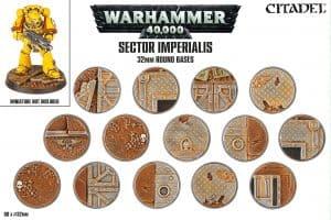 Sector Imperialis: peanas redondas de 32mm