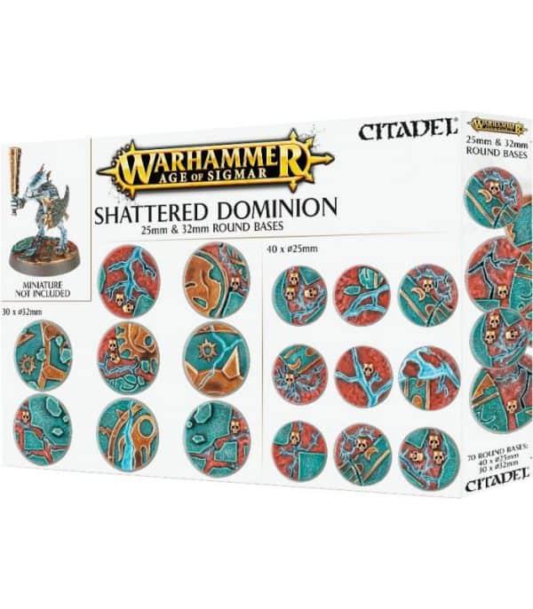 Peanas redondas Shattered Dominion 25 y 32 mm