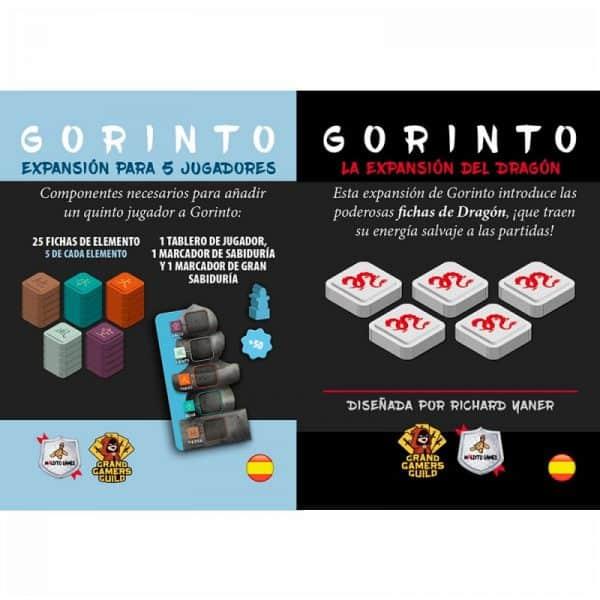 GORINTO - PACK EXPANSIÓN PARA 5 JUGADORES + DRAGÓN